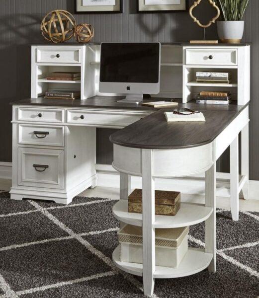 میز تحریر و کتابخانه چوبی , میز تحریر کمد دار