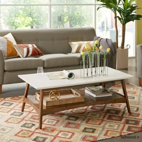 میز کنار مبلی , دکوراسیون چوبی منزل