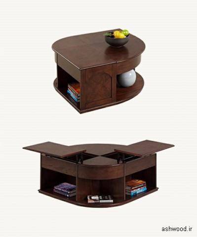 میز جلو مبلی جکدار , میز قهوه خوری آسانسوری