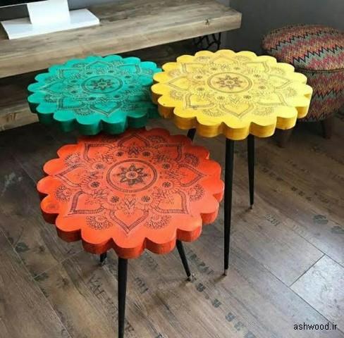 میز کنار مبل جالب و شگفت انگیز , میز کنار مبل , ایده های میز قهوه خوری