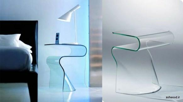 میز کنار تخت و مبل , میز کوچک , میز شیشه ای