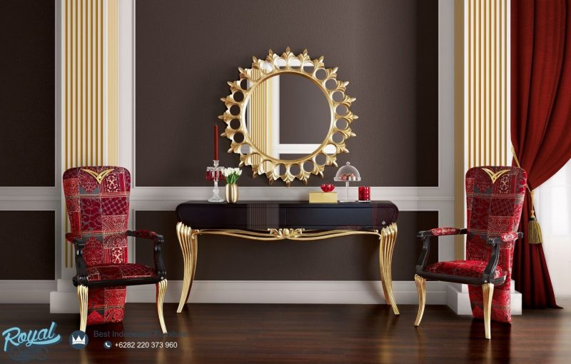 میز کنسول با آینه دیواری
