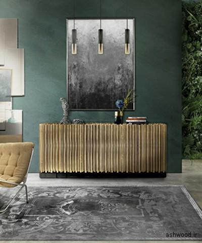 میز کنسول و بوفه چوبی لوکس