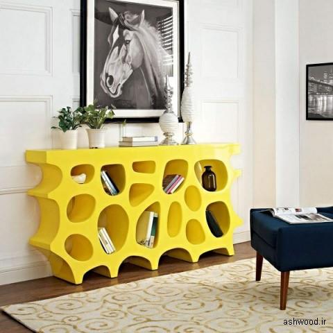 مدل های جدید و جالب میز کنسول , آینه کنسول چوبی , دکوراسیون داخلی