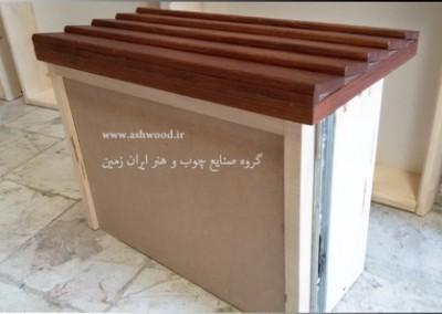 کنسول چوبی ساخته شده از چوب بلوط