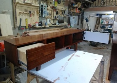 کنسول چوبی ساخته شده از چوب بلوط , میز تلویزیون lcd