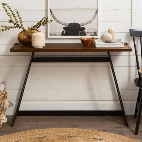 میز کنسول گردوی Carbon Loft