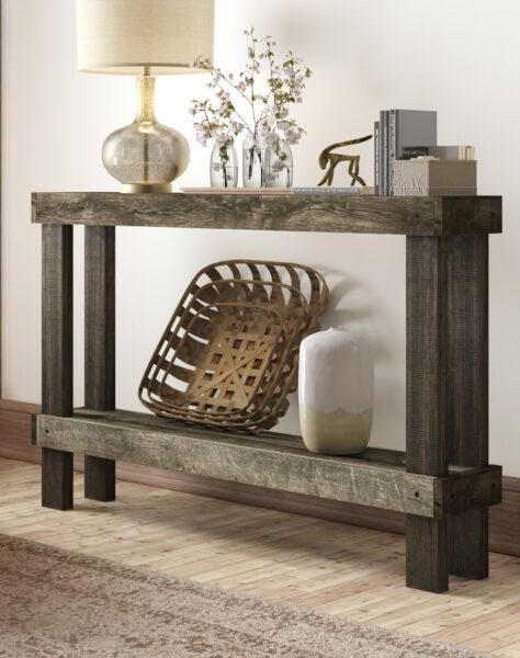 میز کنسول سبک روستیک , میز کنسول چوبی