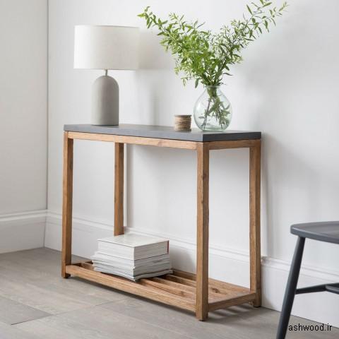 ایده میز کنسول چوبی مدرن