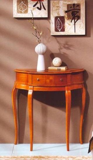 میز کنسول در دکوراسیون داخلی , میز کنسول چوبی در دکوراسیون چوبی منزل