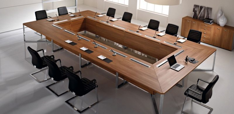 میز کنفرانس مستطیل