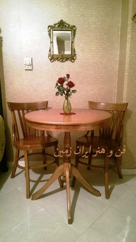 میز گرد و صندلی لهستانی