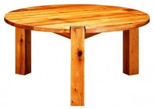 انواع میز چوبی , ساخت میز های گرد چوبی تمام چوب