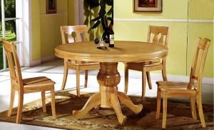 میز گرد چوبی نهارخوری