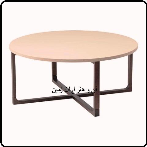میز گرد چوبی