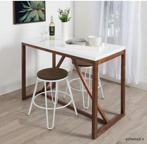 ایده شگفت انگیز میز ناهار خوری چوبی