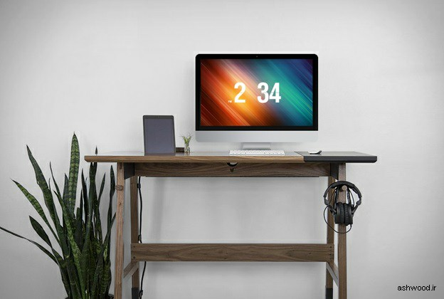 ایده و مدل های میز کار و تحریر چوبی