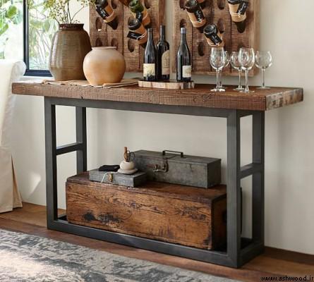 میز کنسول چوبی, کنسول چوبی ساده, میز کنسول جدید