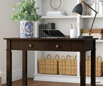 میز چوبی تحریر قهوه ای