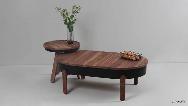 میز کنار مبل چوب بلوط , میز قهوه و چای