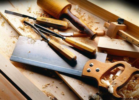 صنایع چوب , ابزارهای لازم نجاری