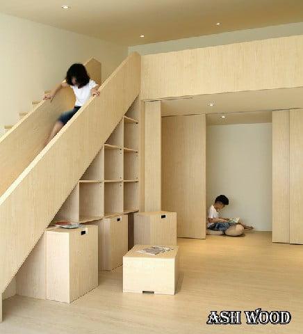 سرسره پله برای کودکان ، زیر پله برای والدین
