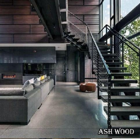 نرده چوبی راه پله , نرده چوبی مدرن, نرده چوبی پله گرد, قیمت نرده چوبی