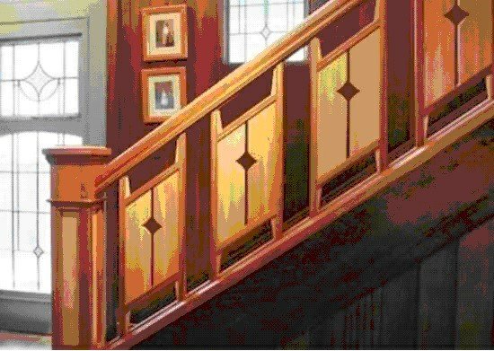 انواع نرده و دست انداز پله , نرده چوبی پله گرد , نرده چوبی پله , نرده راه پله چوبی گرد