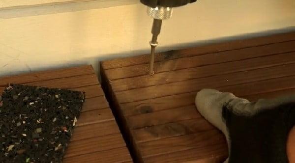 نصب چوب ترمووود برای کف پوش , نصاب ترمو و لمبه