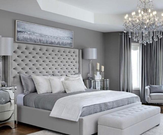 نقاشی اتاق خواب خاکستری