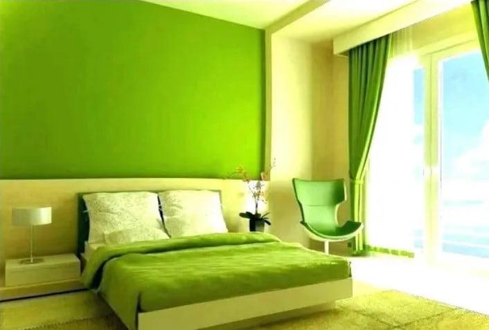 نقاشی اتاق خواب سبز