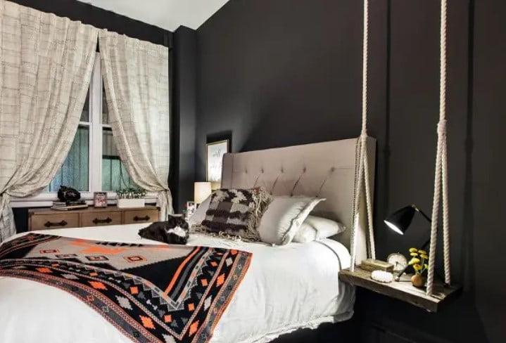 نقاشی اتاق خواب سیاه