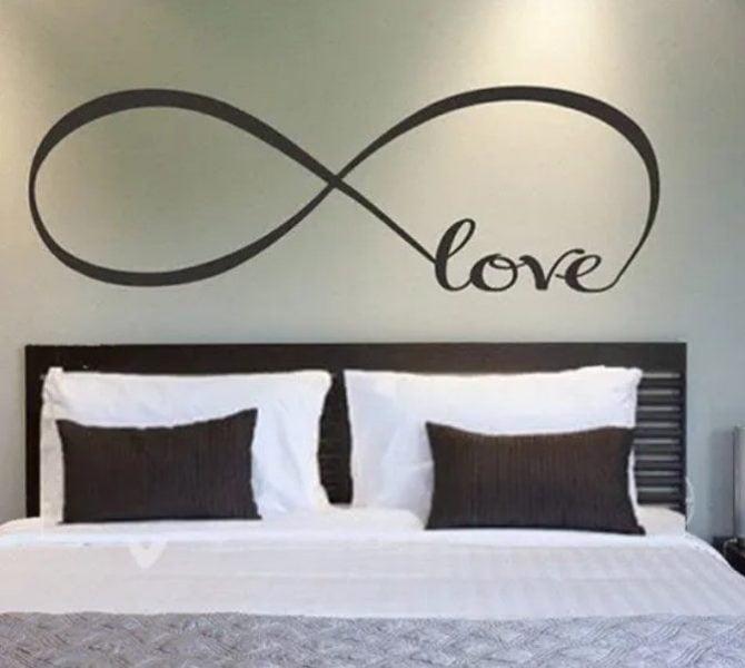 نقاشی طراحی دیوار اتاق خواب نماد بی نهایت