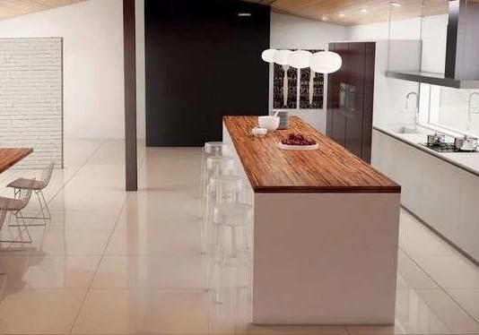 نمونه ای از چوب ببر برای میز آشپزخانه