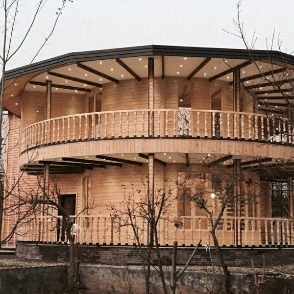 نمونه خانه چوبی