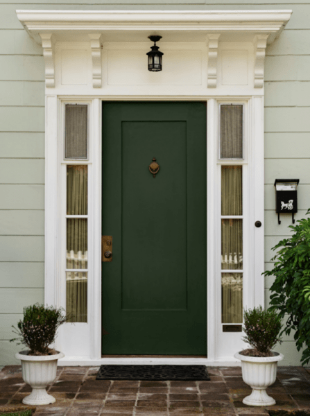 نمونه درب جلویی سبز رنگ