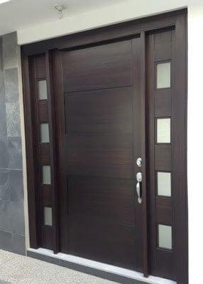 نمونه درب چوبی طبیعی