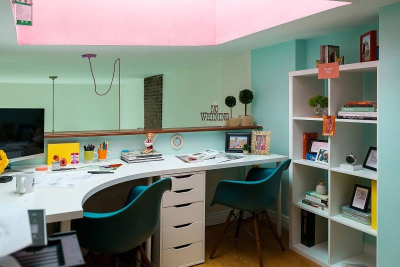 نمونه دفتر کار خانگی کوچک