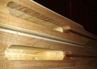 اتصال فاق و زبانه درب تمام چوب تولید کارگاه فن و هنر