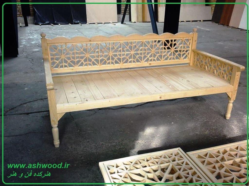 مبلمان سنتی ، تخت سنتی ایرانی ، گرهچینی ، هنر سنتی