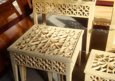 مبل و صندلی سنتی ، گره چینی