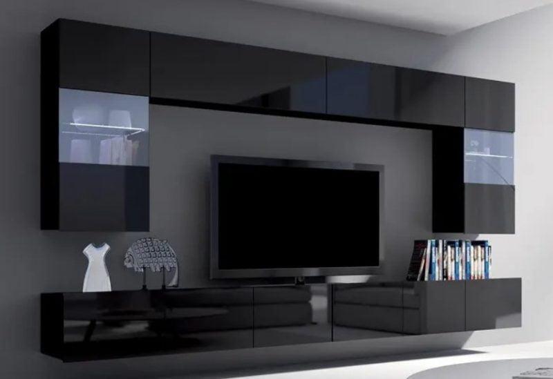 واحد دیواری طراح برای سالن