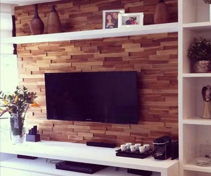 واحد دیواری چوبی مدولار تلویزیون