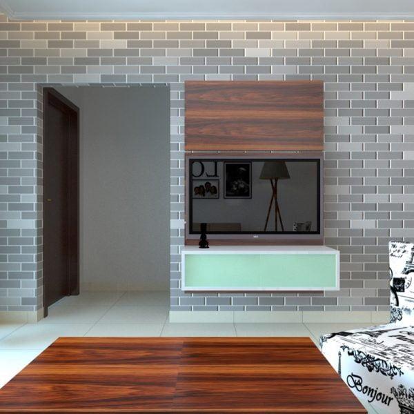 ویترین چوبی تلویزیون کوچک