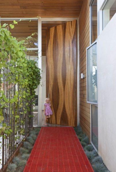 نمونه درب ورودی چوبی