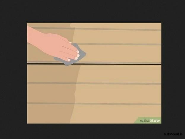 پاک کردن رنگ از روی چوب