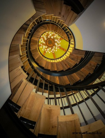 پله چوبی گرد , پله دوبلکس