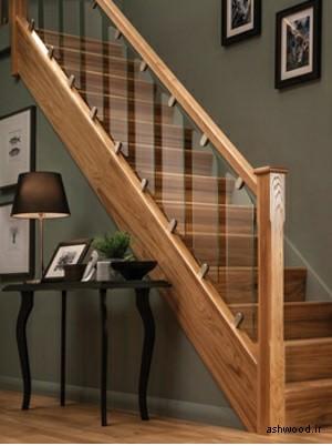 نرده پله چوبی
