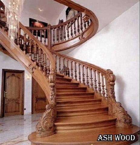 چوب مناسب پله