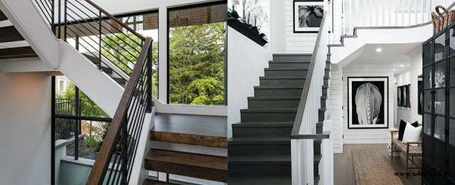 عکس پله چوبی شیک و جالب